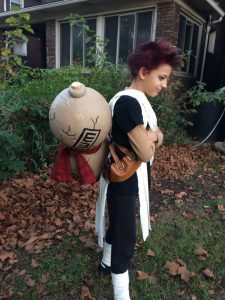 Gaara costume, side view